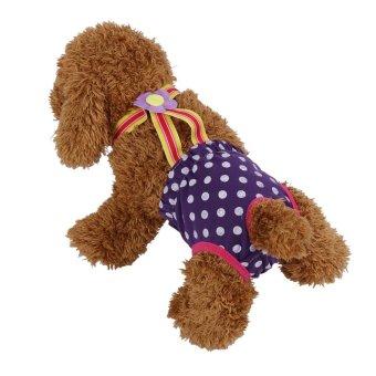 Dog Diaper Suspender Underwear Reusable Washable Pants Purple XL -intl - 3