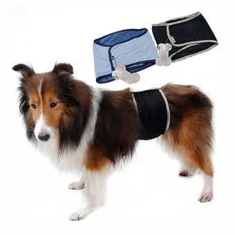 Dog Wrap Pooch Pants Belt Underwear Physiological Pants for BigDogs (M) - intl