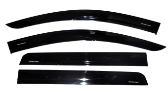 Door Visor Black for Mitsubishi Montero 2016