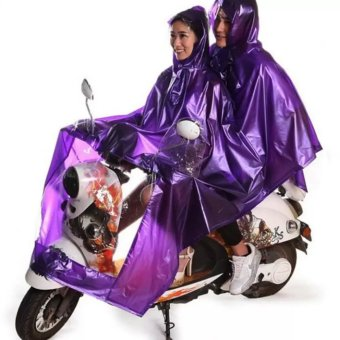 Double 2-Person Waterproof Motor Raincoat (Violet) Price Philippines