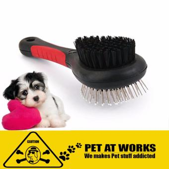DOUBLE FACED PET COMB FOR DOG CAT LONG HAIR BRUSH PLASTIC HANDLEPUPPY CAT MASSAGE PET GROOMING TOOL