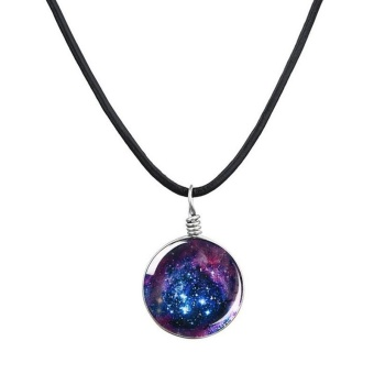 Dreamy Ball Star Galaxy Clavicle Necklace Short Pattern Pendant Necklace - intl