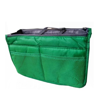 Dual Bag Organizer (Dark Green) with Free Travel Mate Toiletry KitOrganizer (Color may vary)
