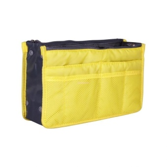 Dual Bag Organizer (Yellow) with Free Portable Mini USB Fan (Colormay vary)
