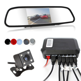 Dual Core CPU Car Video Parking Sensor Reverse Backup Radar Assistance Auto Parking Monitor (Red) - intl Price Philippines