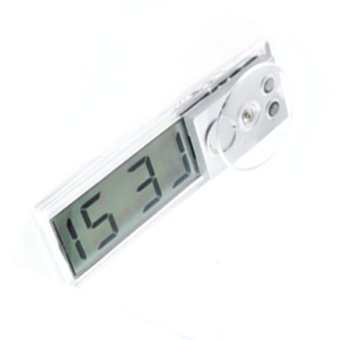Durable Digital LCD Display Car Electronic Clock With Sucker Cool