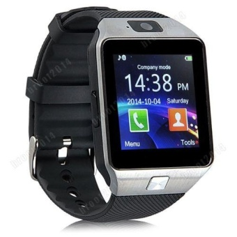 DZ09 Smart Watch with Camera, Bluetooth, and SIM/Memory Card Slots (BLACK / SILVER)