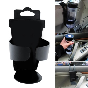 Eachgo Drink Bottle Holder Universal Plastic Car Beverage Cup Support Hang Type Car Kit - intl