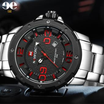 E&E NF-9078 Casual Men stainless steel Strap Waterproof Quartz Watch
