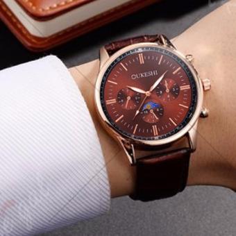 E&E Oukeshi 750 Men's Leather Strap Watch - 3