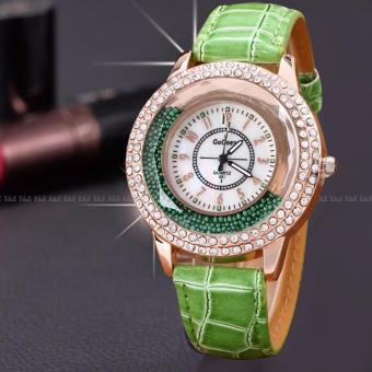 E&E Rhinestone Women's Leather Strap Watch SY-2
