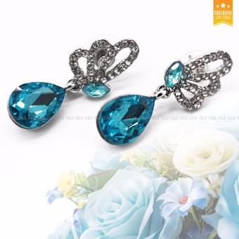 E&E T38 Tears of the Angel Austrian Crystal Accessories Necklace+ Bracelet +1 Pair Earrings Jewellery Sets - 4