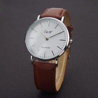 EK23 Daniel Wellington Classic Sheffield Mens' Watch Brown Strap(Silver)