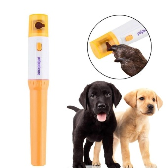 Electric Dog Cat Pet Claw Toe Nail Trimmer Tool Care GroomingGrinder Clipper - intl