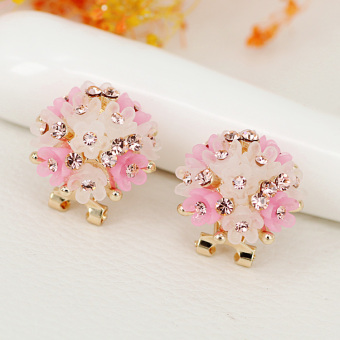 Elegant fashion elegant jelly exquisite stud earrings