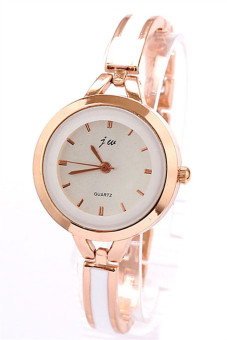 Elegant Women Girl Bracelet Watch Quartz OL Ladies Wrist Watch Gold