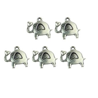 Elephant Silver Tone Pendants Necklace (Silver) (Intl) - picture 2