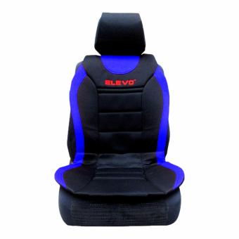 Elevo Seat Cushion With Back Support & Head Rest CoverBlue/Black