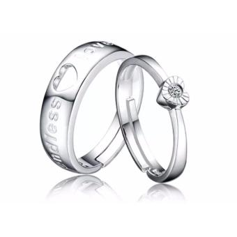 Endless Love Silver Plated Couple Ring Adjustable High Quality Fashion Ring