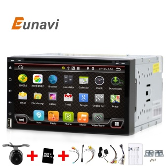 Eunavi Quad Core 2 din android 6.0 car dvd player universal 2dinGPS Navigation audio stereo radio with WIFI+bluetooth+camera - intl