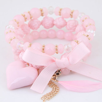 European and American elegant Cooljie Heart Multi-layer bracelet