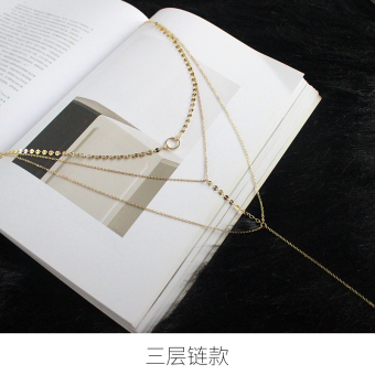 European and American female choker double layer necklace