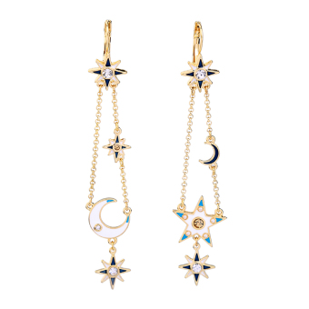 European and American female exaggerated luxury earrings