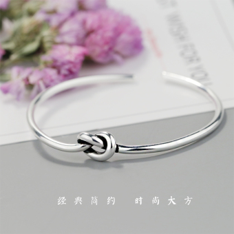 European and American female knotted bracelet sterling silver bracelet