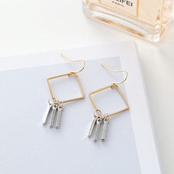 European and American geometric textured earrings