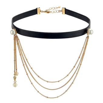 European and American neck band multi-layer necklace women's necklace