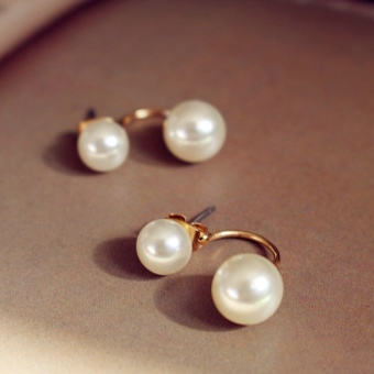 European and American Song Huiqiao celebrity inspired elegant earrings pearl stud