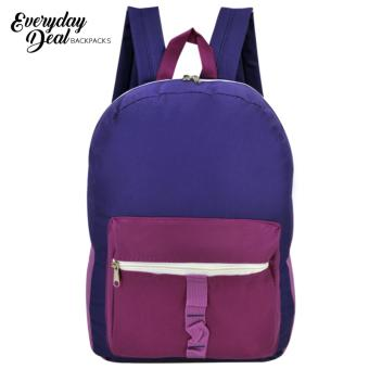 Everyday Deal 7182 Calix Unisex School Backpack Casual Daypack Bag (Violet)