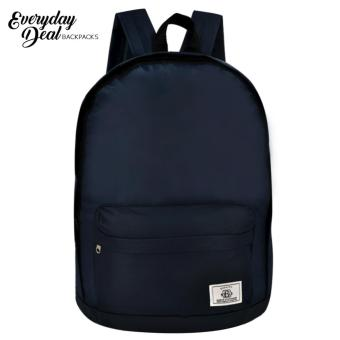 Everyday Deal Kurt Casual School Backpack Daypack (Navy Blue)