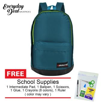 Everyday Deal Merletto School Backpack (Teal) with FREE School Supplies