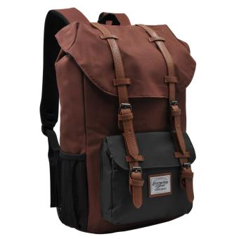 Everyday Deal Travel Laptop Backpack (Brown/Grey)