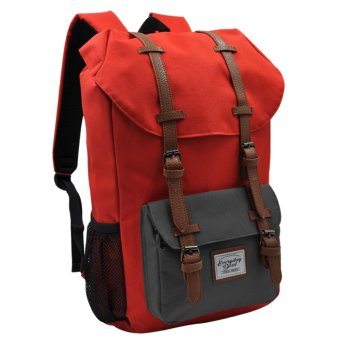 Everyday Deal Travel Laptop Backpack (Red/Grey)