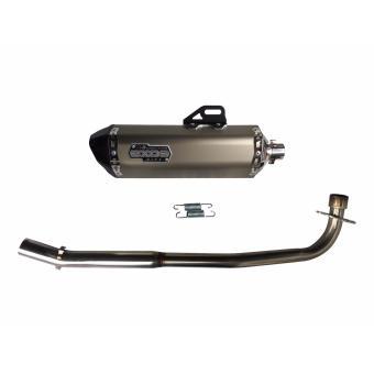 EXOS R6 Wave Dash Full Exhaust System - Titanium Anodized - 2