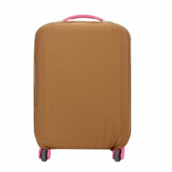 Extra Thick Suitcase Protective Anti-Scratch Luggage Cover Brown (L26in to 30in)