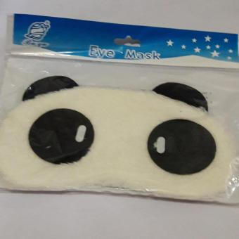 Eye Mask with Cute fur Panda (White) Price Philippines