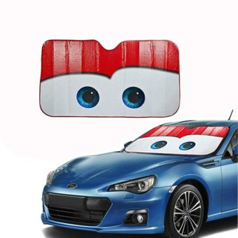Eyes Pixar Heated Windshield Sunshade Car Window Windscreen CoverSun Shade Auto Sun Visor Car-covers (Red) - intl