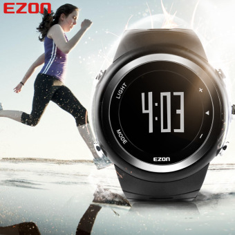 EZON Running Sport Watch Pedometer Calorie Counter Monitor DigitalWatch (Black)