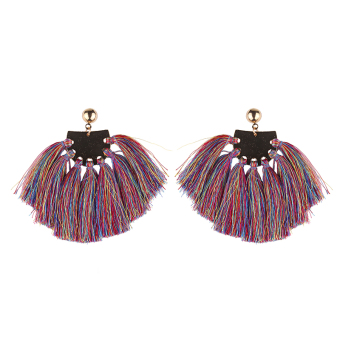 Famous Bohemian tassled celebrity inspired multi-tassled stud earrings