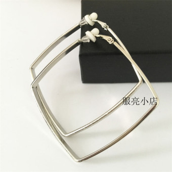 Famous European and American female wide square big ear ring big ring earrings