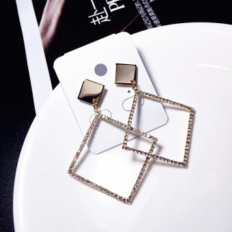 Famous versatile exaggerated elegant stud large earrings