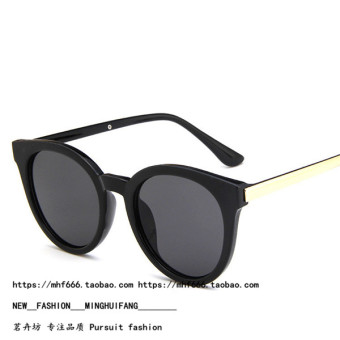 Fan Bingbing female round fashion sunglasses