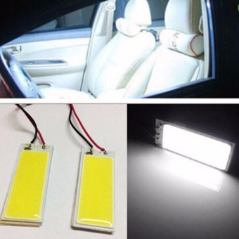 Fancyqube 36-COB LED Panel HID Bulb Car Vehicle Interior Map DomeDoor Light 12V White - intl