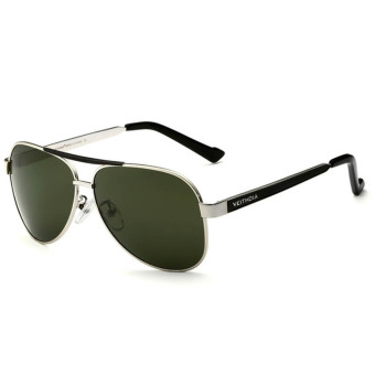 Fancyqube Men's High-end HD Inner Coated Polarized Sunglass Silver