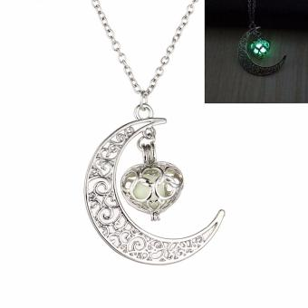 Fancyqube New Fashion Luminous Glow In the Dark Necklace Sailor Moon Pendant Necklace For Women Green(White 50 CM) - intl