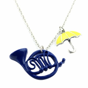Fancyqube New How I Met Your Mother The Blue French Horn NecklacePendant - intl