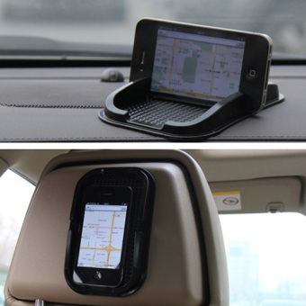 Fancytoy Black Car Dashboard Sticky Pad Non Slip Mat Gadget Mobile Phone GPS Holder - 2